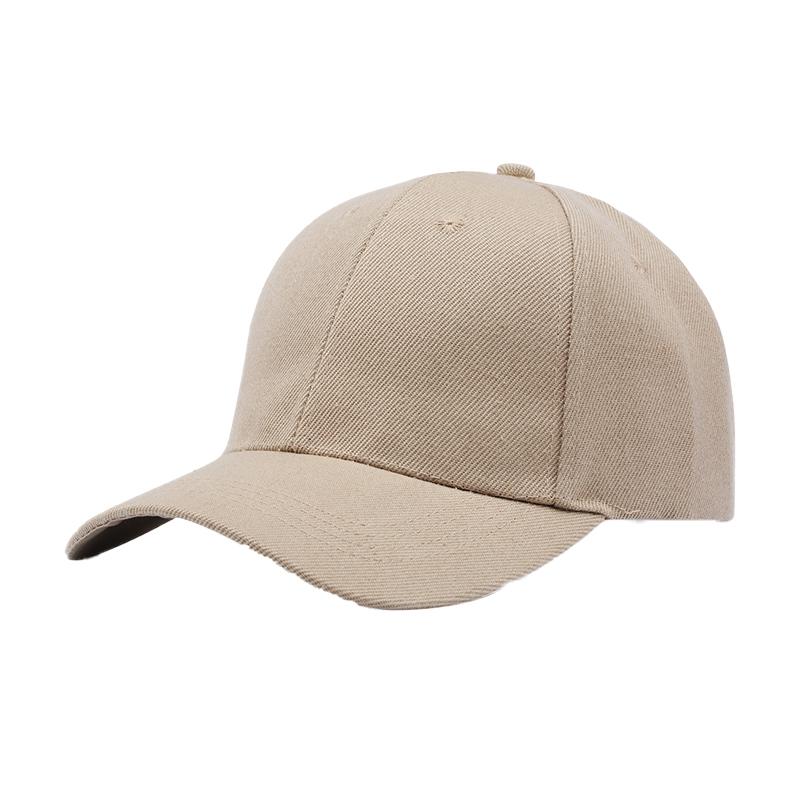 夏天帽子潮韩版百搭棒球帽男女纯白色纯黑色光板四季款弯檐鸭舌帽