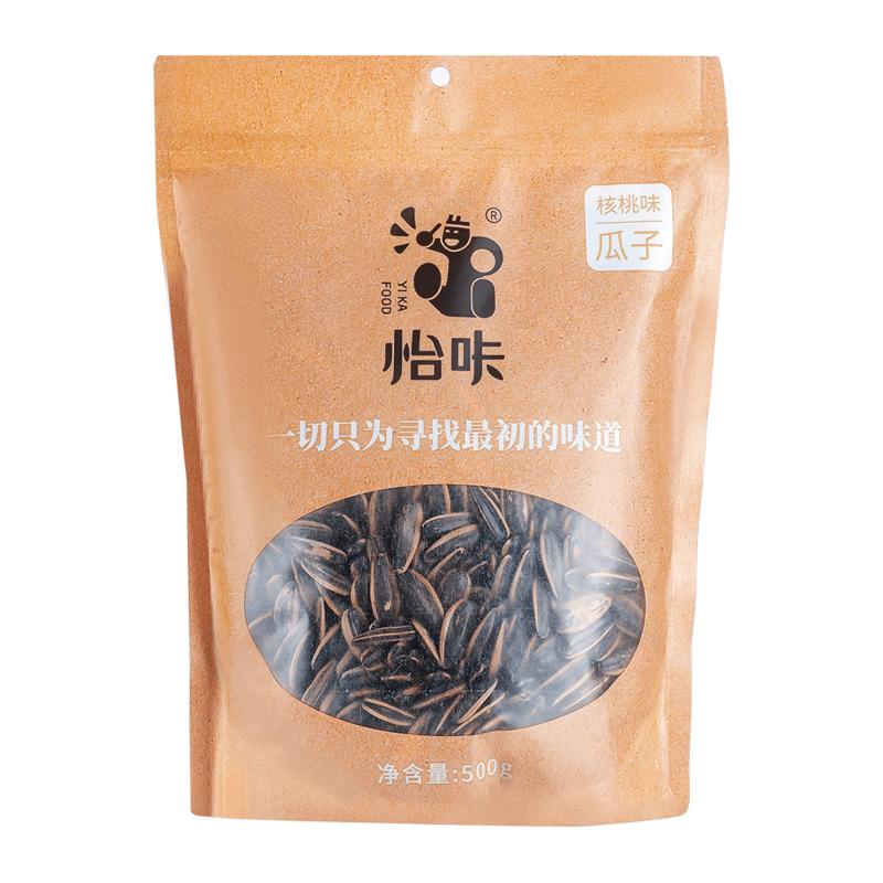 怡咔焦糖山核桃味瓜子500g袋装原味葵花籽瓜子散装5斤网红老街口