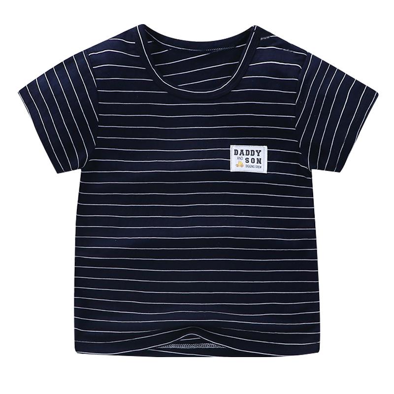 儿童短袖t恤冰丝男童夏装宝宝上衣男孩衣服夏季女童条纹2021童装