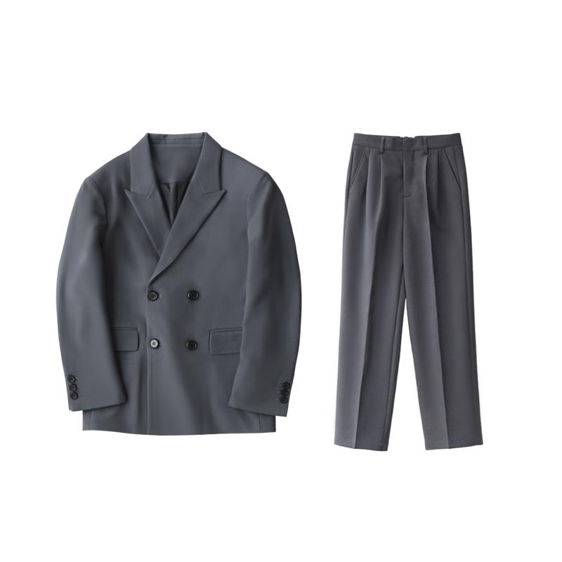 新品宽松款西服套装男士直筒阔腿裤好用吗