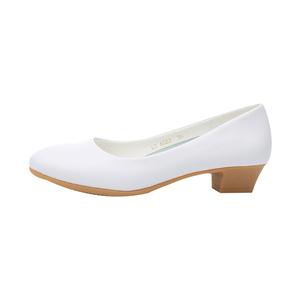 平底坡跟美容师工作鞋女单鞋小白鞋