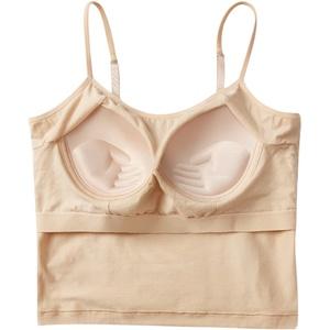 露肚脐少女文胸吊带一体式纯棉汗衫