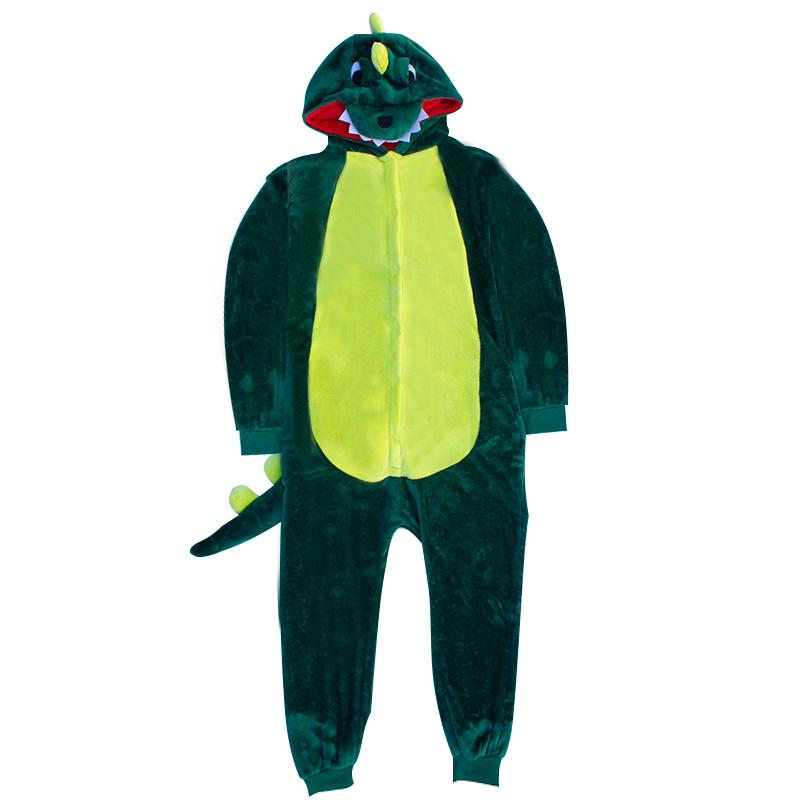 春秋冬季成年男女绿恐龙睡衣 冬天成人情侣连体卡通动物可爱动漫