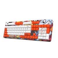 【晒图送垫】斗鱼DKM150动漫彩色机械键盘电竞游戏青轴黑红茶轴台式笔记本电竞双拼键盘可拆卸键盘