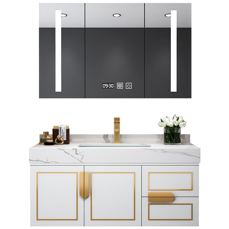 组合现代轻奢卫生间柜岩板洗手盆柜评测参考