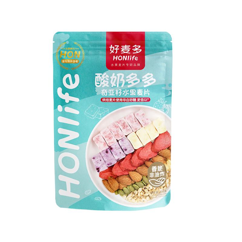 好麦多酸奶元气水果燕麦片坚果谷物营养早餐冲饮代餐即食干吃400g