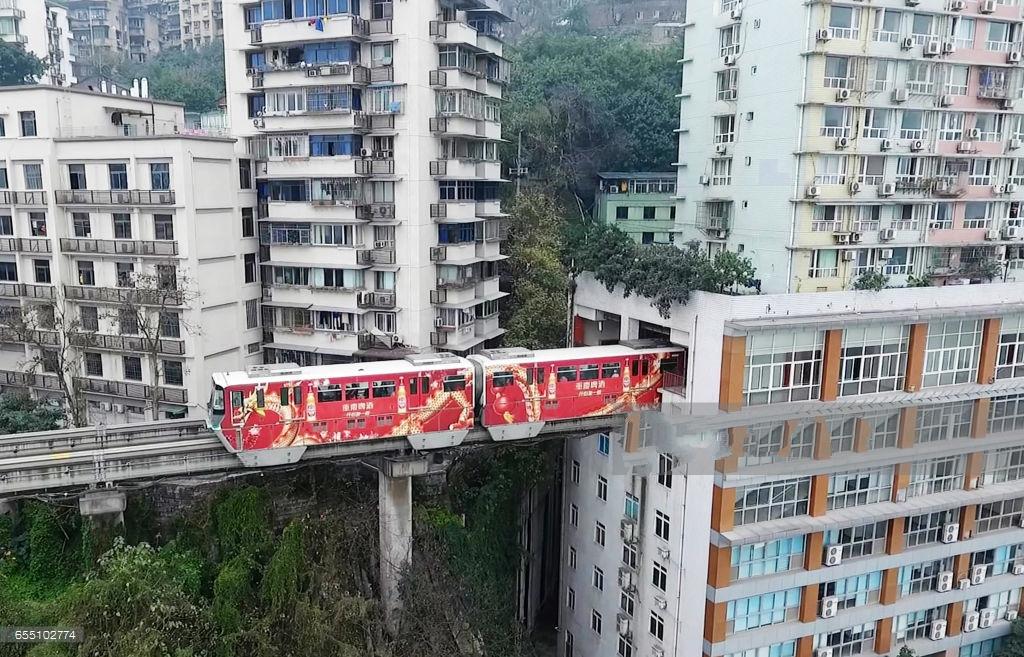 有一种地铁,叫做重庆的地铁