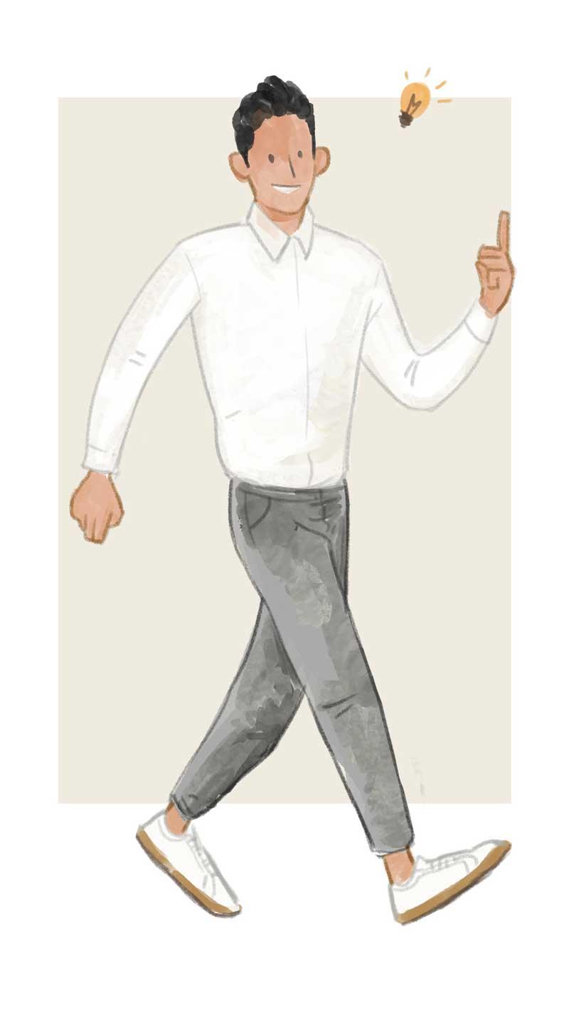 把白衬衫穿得温文尔雅