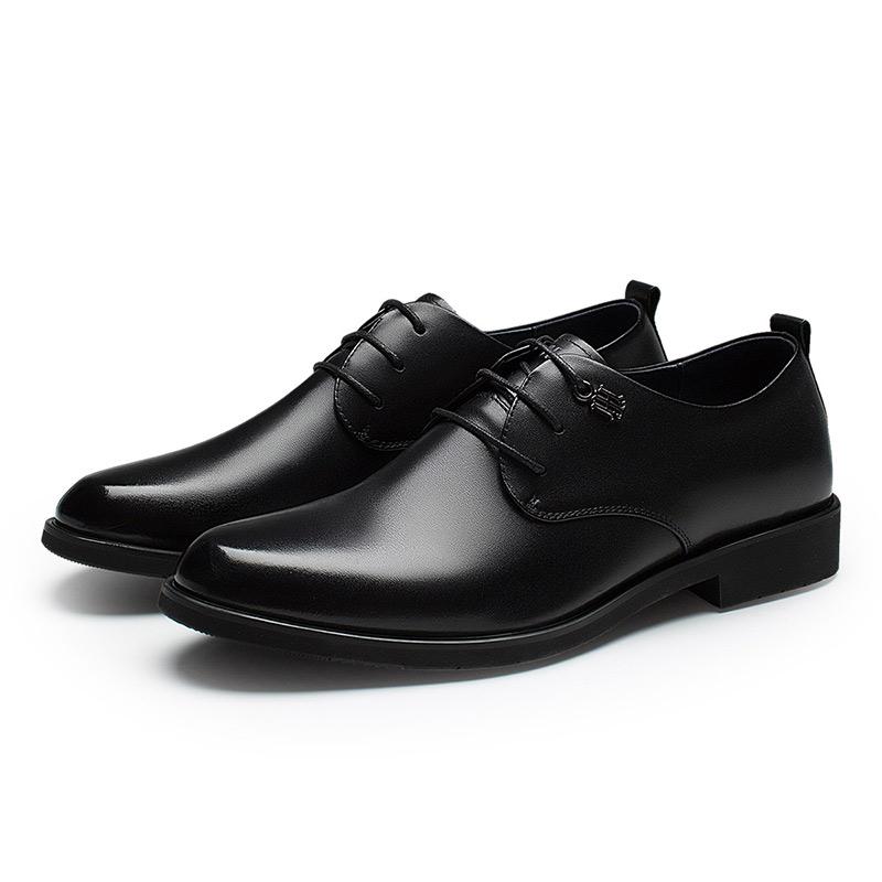 HLA海澜之家男鞋增高德比鞋男真皮皮鞋商务男士正装结婚新郎鞋子