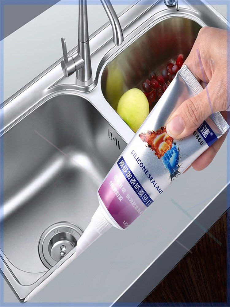 Glue for kitchen sink waterproof and mould proof dishwashing pool edge water leakage mending and sealing