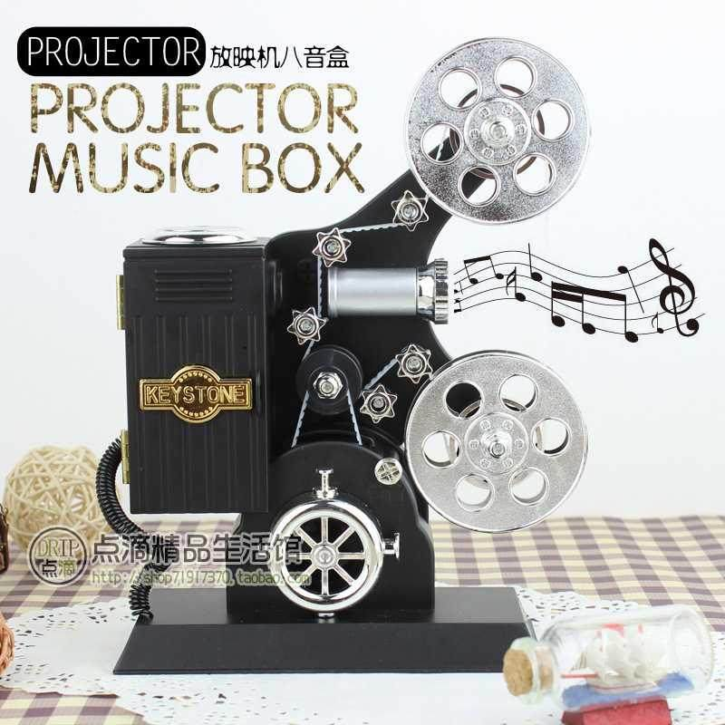 创意留声机摆件天空之城音乐盒复古八音盒送男女同学朋友生日礼物
