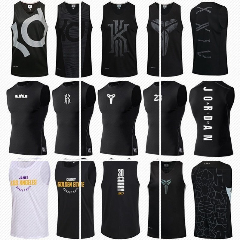 Sports summer mens casual fitness clothes individual cut sleeve basketball quick dry vest shirt high elastic fashion brand shoulder