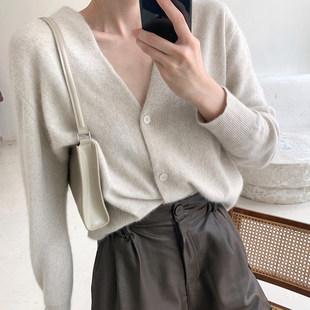 十元詩苑毛絨絨浣熊毛針織衫秋季寬鬆顯瘦薄款氣質長袖開衫外套女