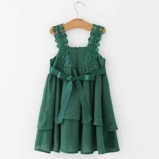 女童连衣裙薄夏季2020夏装新款童装版儿童花边吊带裙宝宝公主裙