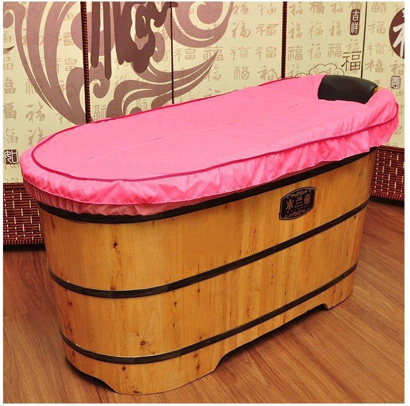 泡澡桶上面的盖子浴缸保温盖浴桶盖子保温罩木桶保温布盖布罩家用