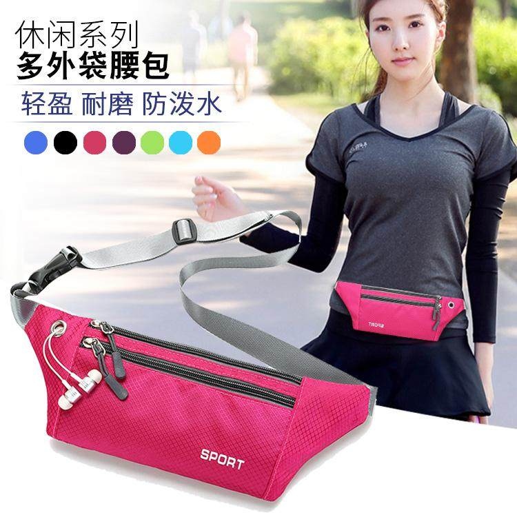 Red small bag lady chest bag generous, can put multi-layer large capacity waist bag, business handbag, convenient earphone hole