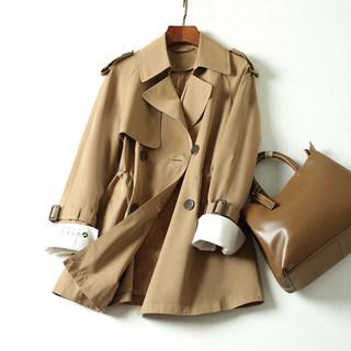 杰菲娜2020新款短款小个子秋装韩版今年流行女装外套风衣女20C11
