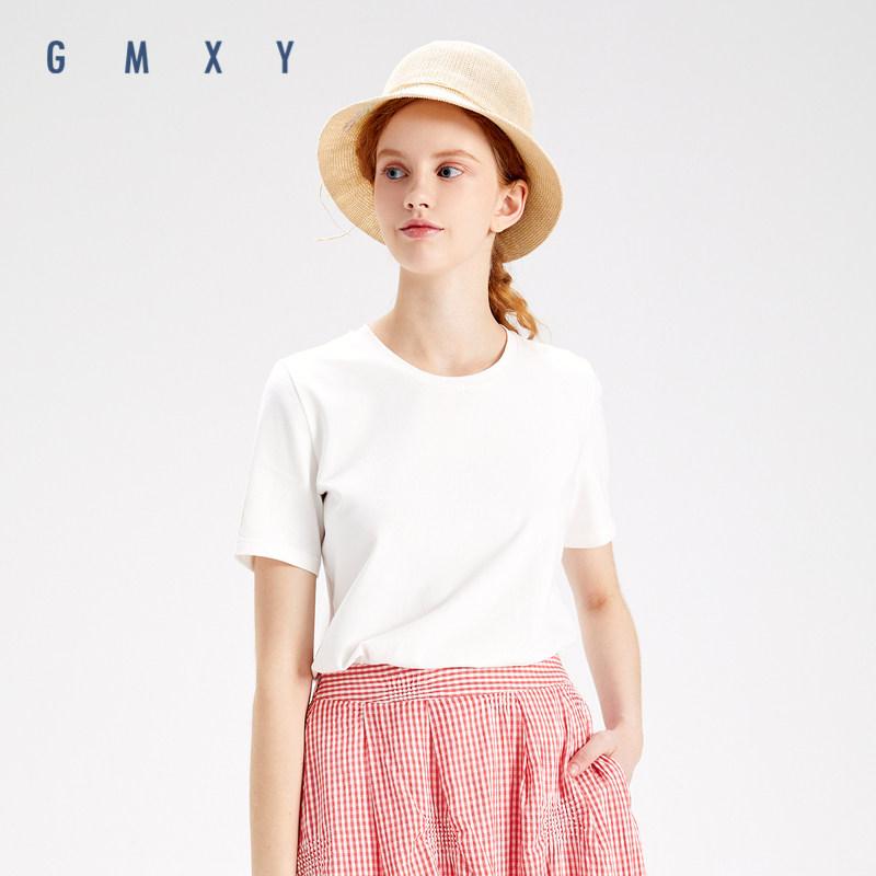 古木夕羊短袖2020新款女夏季基础款短款上衣印花T恤GD0300924