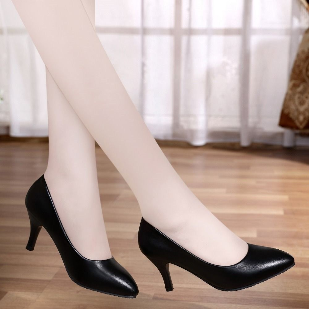 Long standing not tired] stewardess soft shoes, four seasons shoes, high heels, formal dress, work shoes, occupational comfort womens shoes