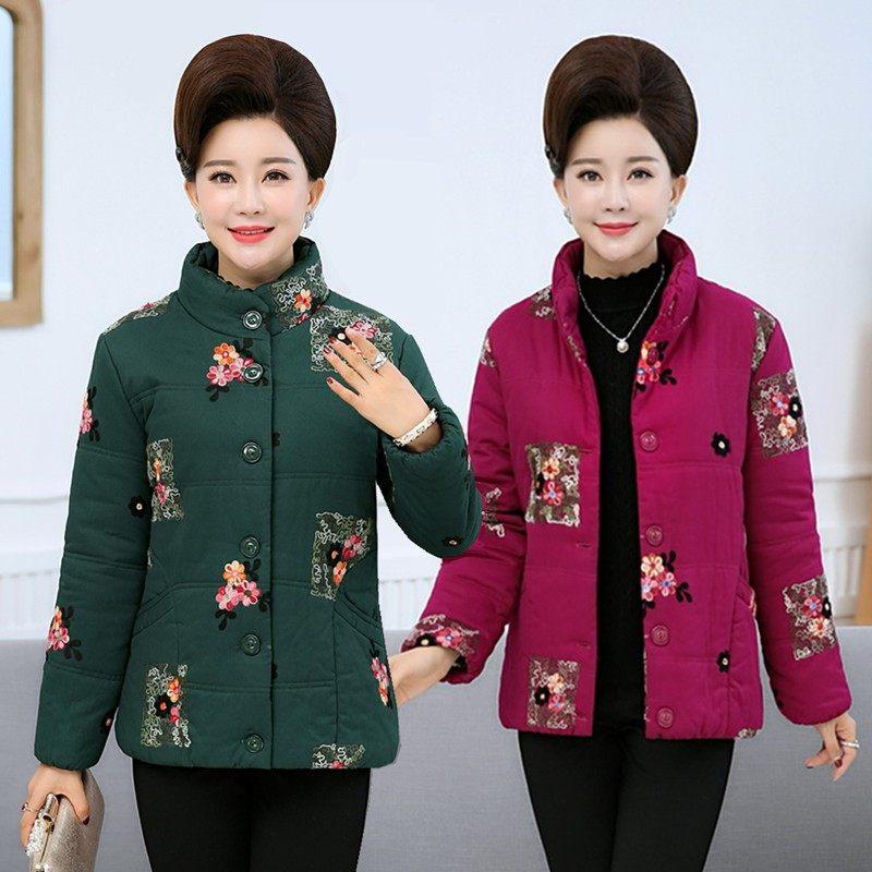 加厚大妈女装40-50-60岁中老年人冬装 妈妈装奶奶衣服棉袄老年人