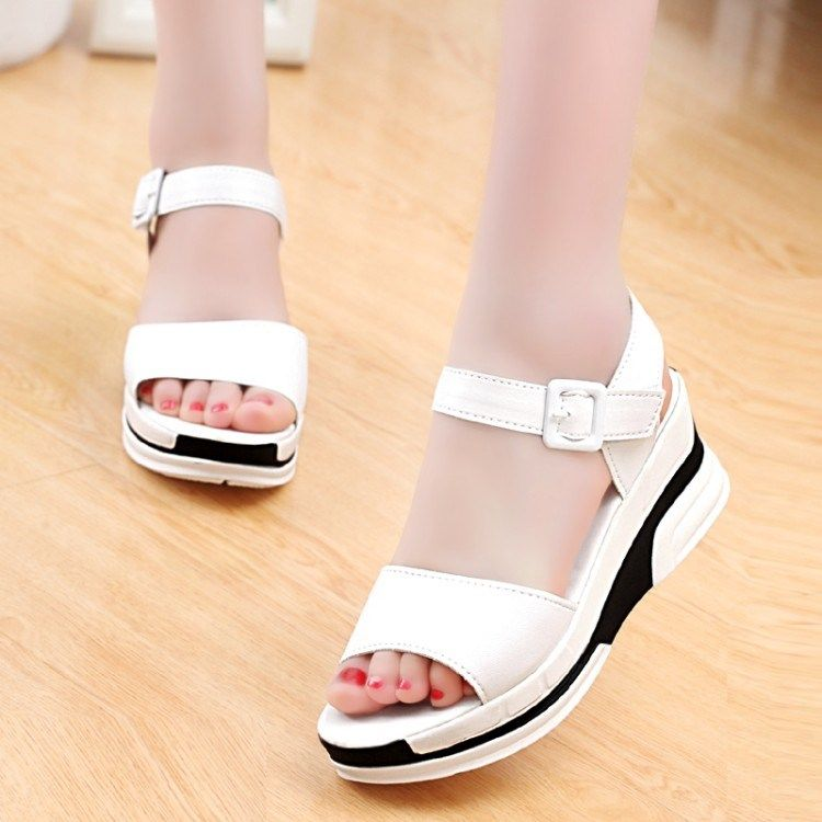 17 summer sandals female slope heel 12 thick sole 15 shoes 13 high school students 14 big girl shoes 16 middle heel 18