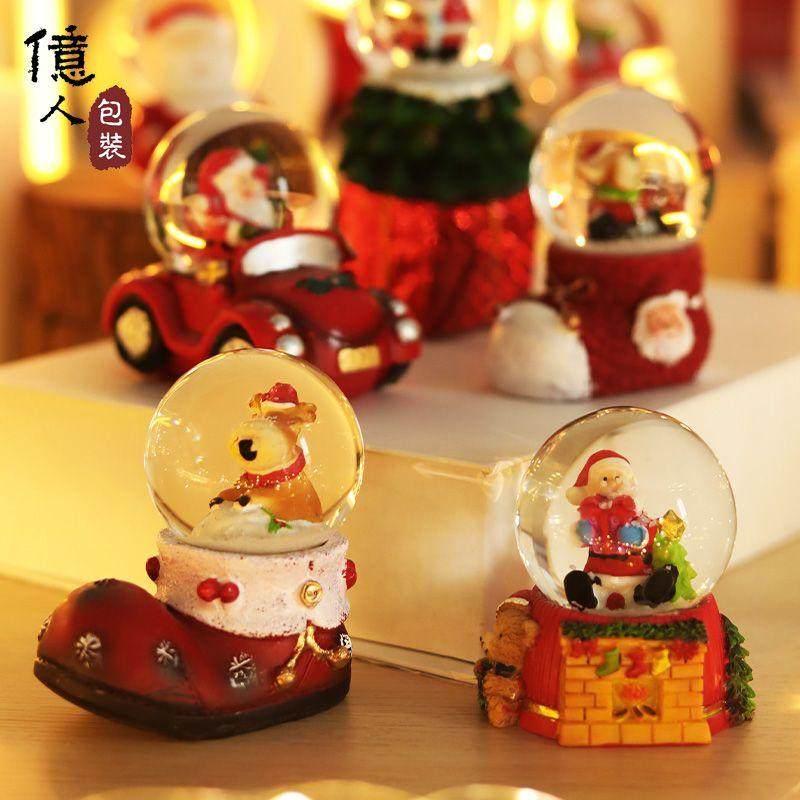 2020鼠年新年老人水晶球礼盒装飘雪公司年会礼物活动礼品