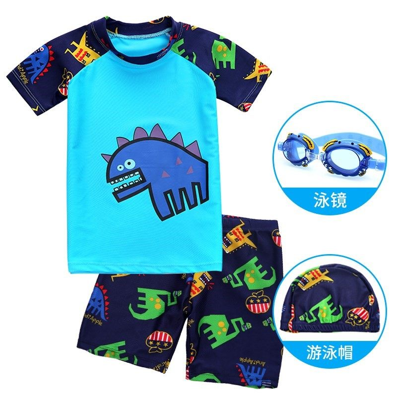 Big size, fat suit, primary school boys swimsuit, boys 12-15-year-old split swimsuit.