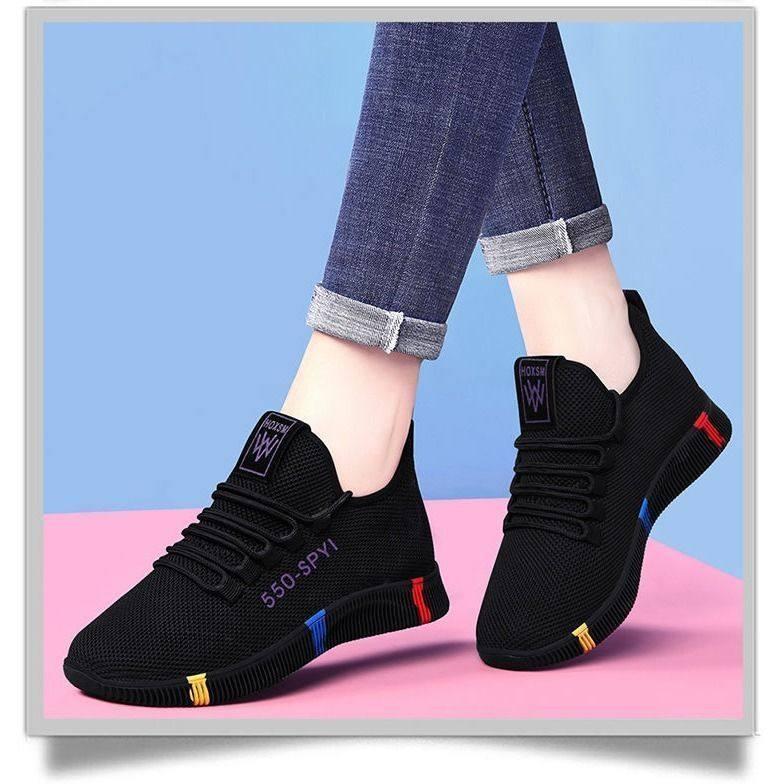 2020新款透气软底布鞋单鞋防滑不累脚网面鞋跑步透气女健身跑步鞋