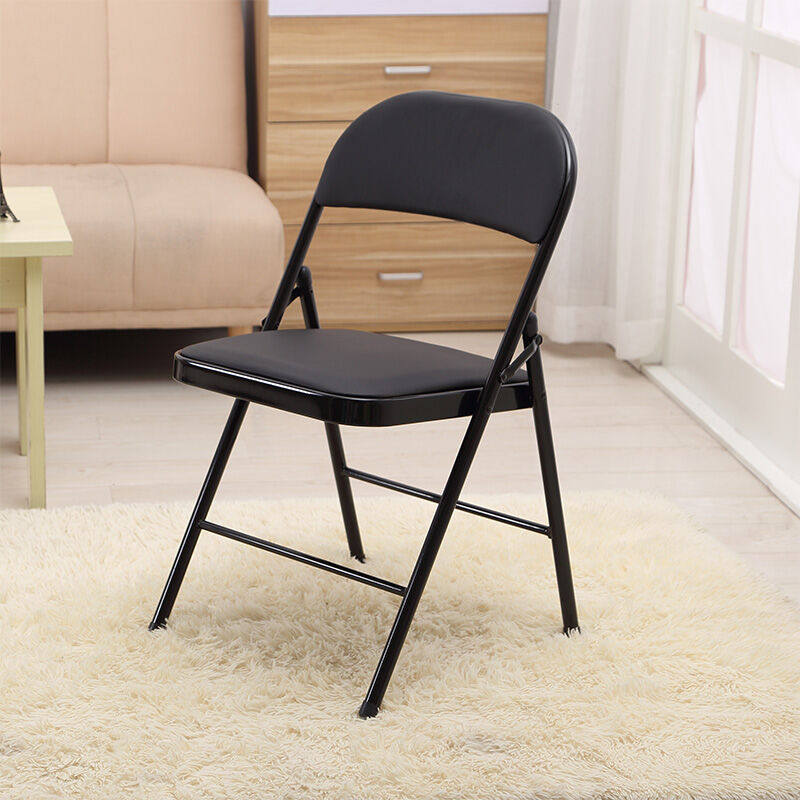 Folding chair office and home training chair backrest computer chair black pipe bridge chair