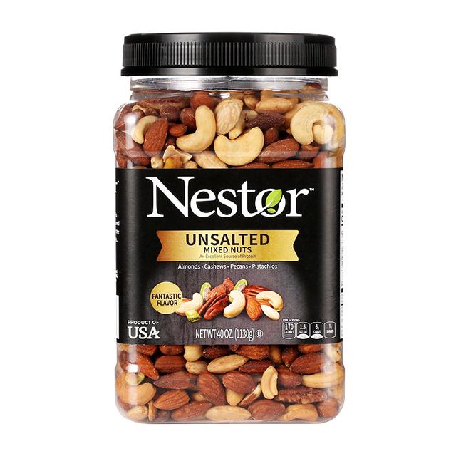 进口Nestor乐事多混合坚果仁1130g 盐焗/无盐原味罐装每日坚果