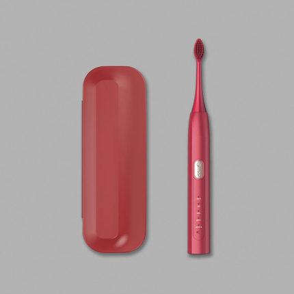 旅行消毒盒(红)+电动牙刷(红)组合一套