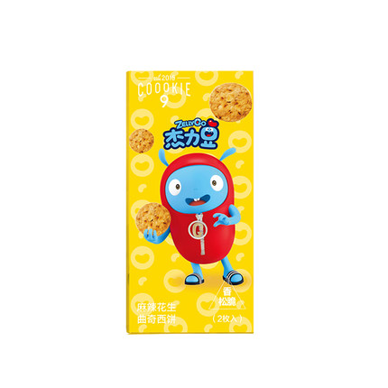 《杰力豆》联名款麻辣花生曲奇西饼 10盒
