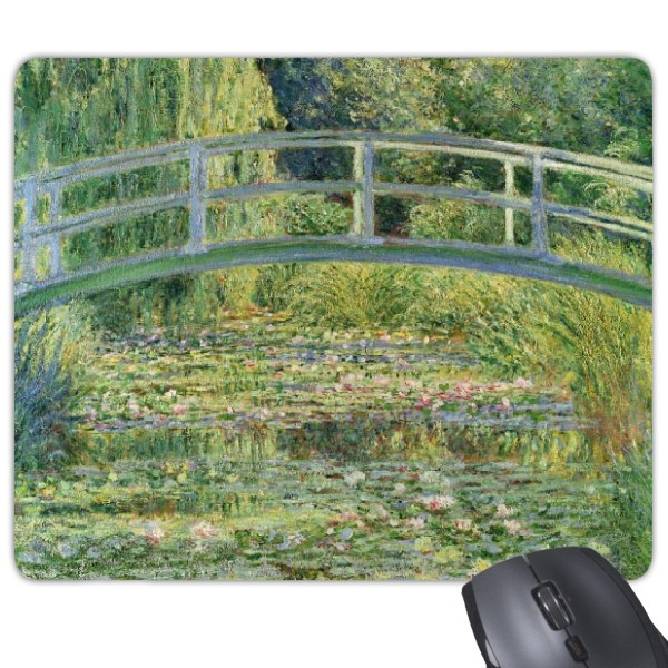 Water lily pond Monet famous oil painting impressionism genre games antiskid rubber mouse pad
