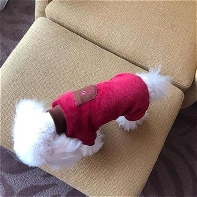 New winter dog pocket four legged jacket Plush inside Z dog clothes l pet clothes Teddy fadou ˉ since