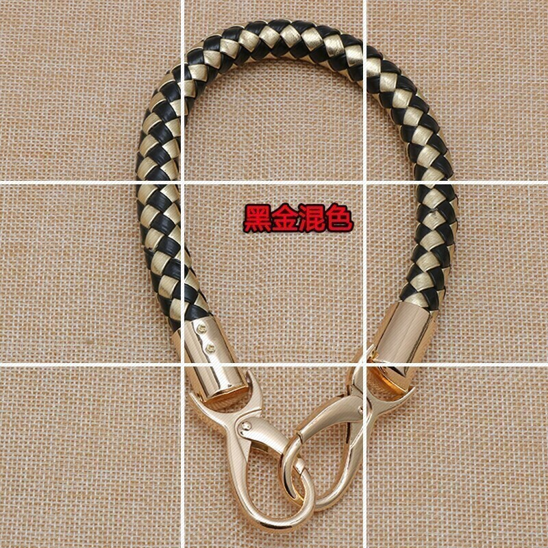 New bag carrying belt carrying bag handbag carrying belt 100 a hand carrying multi-color leather short chain belt leather rope