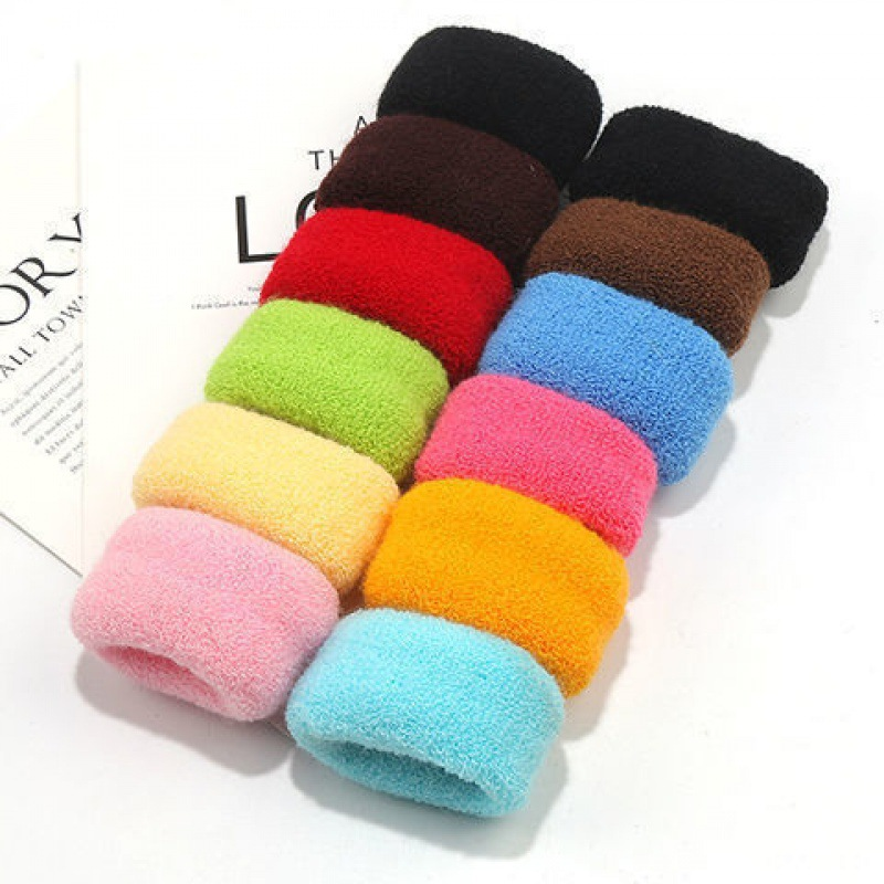 JK hair circle large towel l thick pan head rope rubber band wool knitting does not hurt jewelry decoration leather cover without seam