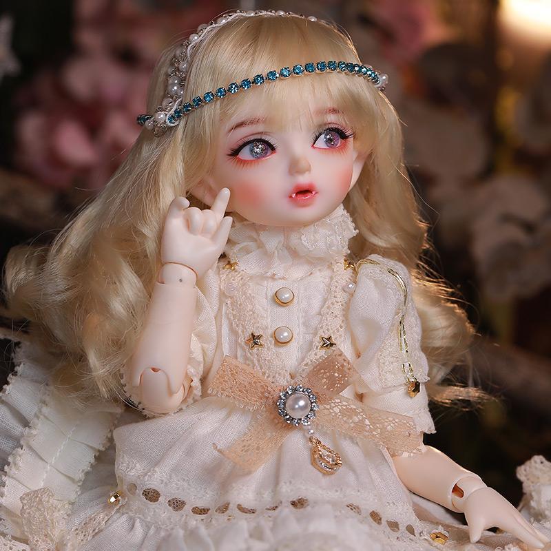 bjd女娃娃6分Minifee Hwayu可爱公主连衣裙全套带头饰sd关节新濮