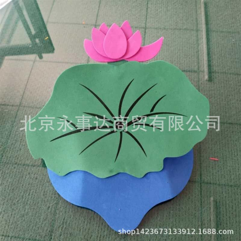 Small flowers and trees kindergarten plant headdress childrens game performance role-playing props lotus y flower Peony Rose