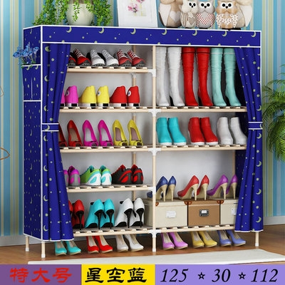 Thickened shoe cabinet assembly niuizin multi-layer dust-proof modern simple canvas simple storage shoe rack cloth reinforcement