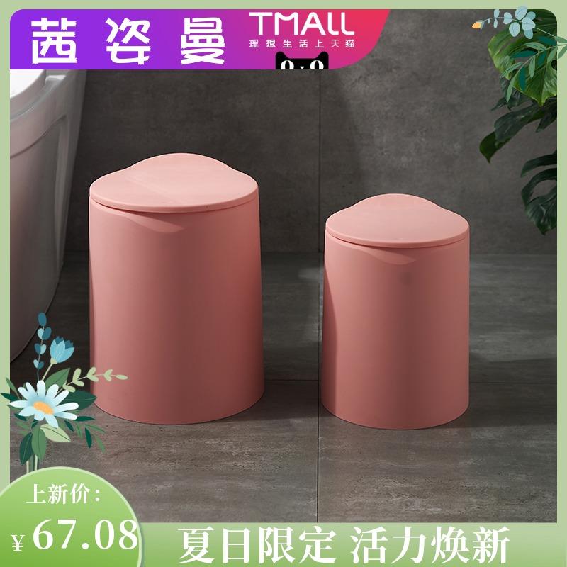 高級な桶の猫が客の物をひっくり返すことを防ぐための明るいごみの桶は蓋をします。