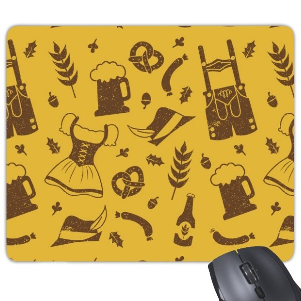 Berlin, Germany food culture custom illustration pattern personalized creative game office anti-skid rubber mouse pad