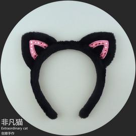 非凡猫新小s同款猫耳朵发箍韩国兔耳朵洗脸发带发饰宽边头箍头饰