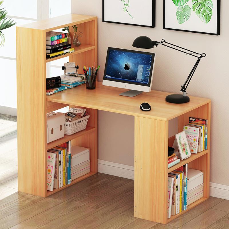 12-03新券电脑台式简易家用书柜一体写字桌