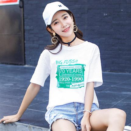 短袖t恤女夏装2018新款韩版学生白色潮流宽松打底衫女春装上衣服