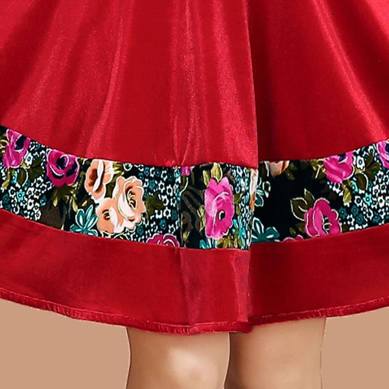 广场舞服装新款套装秋冬季韩国绒加厚舞蹈服演出服上衣长袖裙裤女