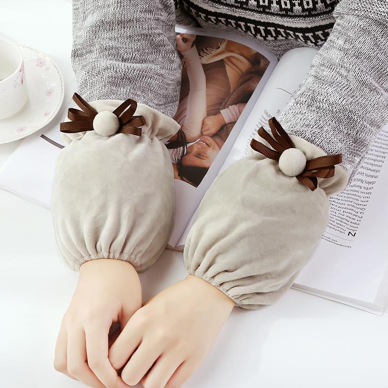 韩版时尚成人长短款绒面套袖防污护袖套秋冬季女袖套日用办公