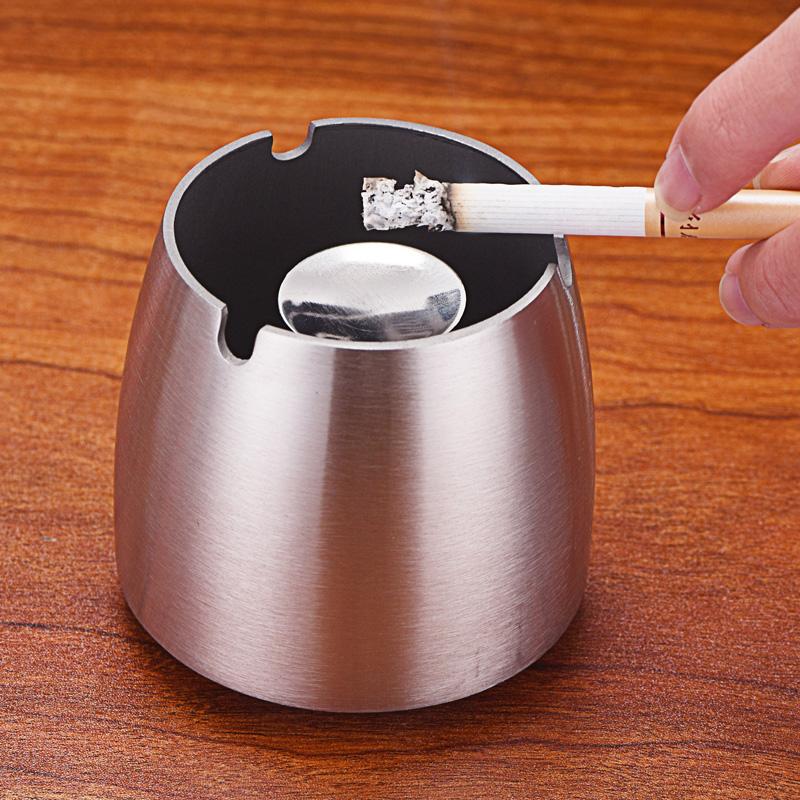 万事顺不锈钢烟灰缸创意烟灰缸客厅网吧创意烟灰缸防风烟缸欧式X