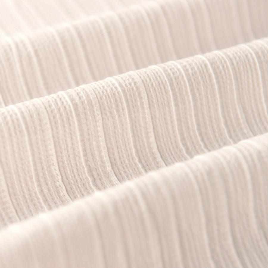 喵家手作 米白褶皱花生壳条纹薄纯棉布料 上衣汉服装曲裾围巾面料