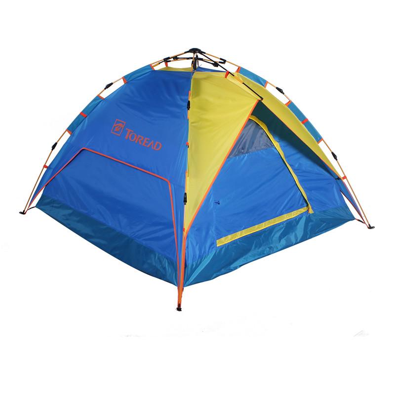 户外野营装备3-4人一居室液压全自动速开帐篷KEDE80451