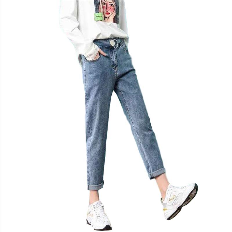 牛仔裤女2020年新款秋冬季高腰小脚长裤